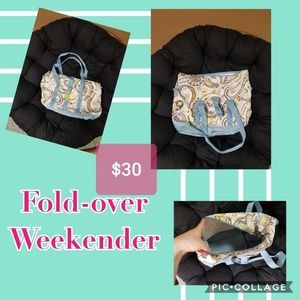 Thirty-One Fold Over Weekender bag